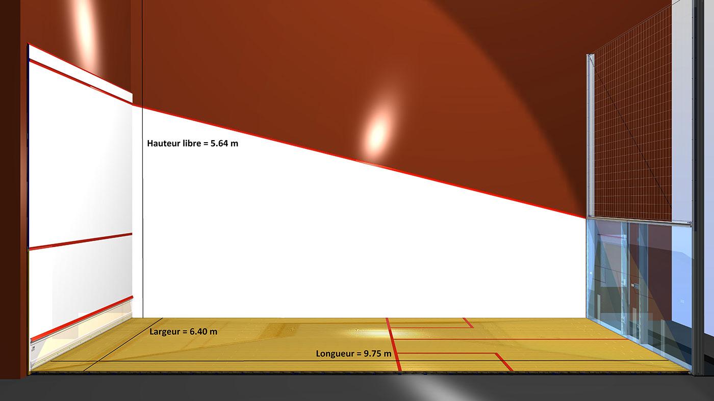 Dimension d'un court de squash