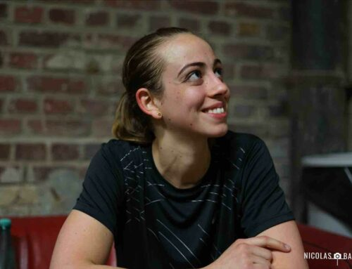 Marie Stéphan tout sourire